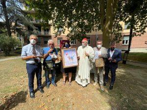 Festa Sant'Anna foto con presidente Pirazzoli, Arcivescovo e ACLI Bologna